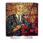 Lowry's Painting Suit Vintage Shower Curtain