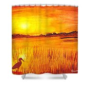 Loxahatchee Sunrise Shower Curtain