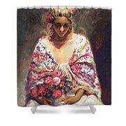 lrsCOL063Royo Mirame Jose Royo Shower Curtain