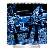 Ls #40 Enhanced In Blue Shower Curtain