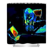Ls #43 Cosmically Enhanced Shower Curtain