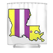 Lsu Louisiana Shower Curtain