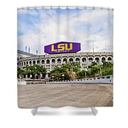 Lsu Tiger Stadium Shower Curtain by Scott Pellegrin
