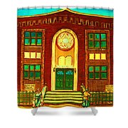 Lubavitch Synagogue Shower Curtain