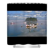 Lubec Waterfront Shower Curtain
