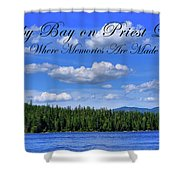 Luby Bay On Priest Lake Shower Curtain