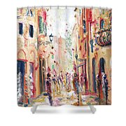 Lucca Street Shower Curtain