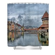Lucerne Chapel Bridge Shower Curtain