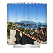 Lucerne Old Town In Switzerland Shower Curtain