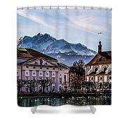 Lucerne's Architecture Shower Curtain