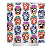 Lucha Libre Masks Shower Curtain
