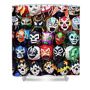 Lucha Libre Wrestling Masks Shower Curtain