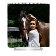 Lucia-cora6 Shower Curtain