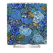 Lucia's Flowers Shower Curtain