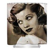 Lucille Ball By Mary Bassett Shower Curtain