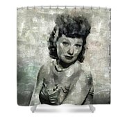 Lucille Ball Vintage Hollywood Actress Shower Curtain