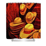 Luckenbach Hats Hdr Shower Curtain