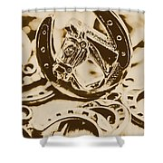 Lucky Cowboys Charm Shower Curtain