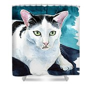 Lucky Elvis - Cat Portrait Shower Curtain