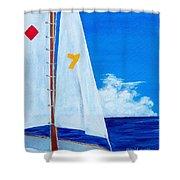 Lucky Seven Shower Curtain