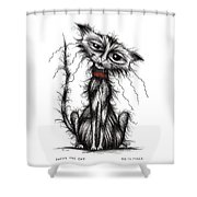 Lucky The Cat Shower Curtain