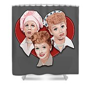 Lucy Expressions Gry Shower Curtain