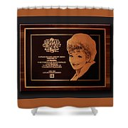 Lucy Sca Plaque  Shower Curtain