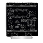 Lucy The Elephant Building Patent Blueprint 3 Shower Curtain