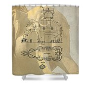 Lucy The Elephant Building Patent Shower Curtain