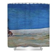 Lucy's Beach Shower Curtain