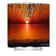 Ludington Sunset April 2016 Shower Curtain