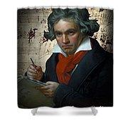 Ludwig Van Beethoven 1820 Shower Curtain