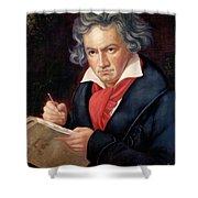 Ludwig Van Beethoven Composing His Missa Solemnis Shower Curtain