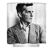 Ludwig Wittgenstein Shower Curtain