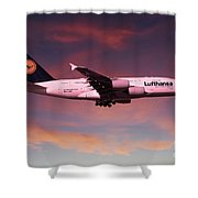 Lufthansa Airbus A380 D-aimh Shower Curtain