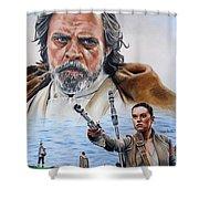 Luke And Rey Shower Curtain