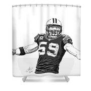 Luke Kuechly  Shower Curtain