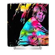 Luke Skywalker Paint Splatter Shower Curtain