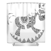Lullaby Rock Shower Curtain