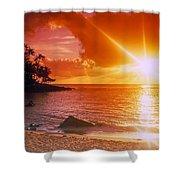 Lumahai Beach Sunset Shower Curtain