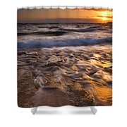 Lumaha'i Dawn Shower Curtain by Mike  Dawson