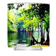 Lumber River Shower Curtain