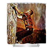 Lumberjack  Shower Curtain