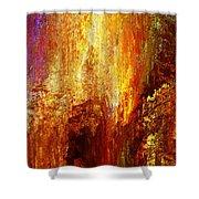 Luminous - Abstract Art Shower Curtain by Jaison Cianelli
