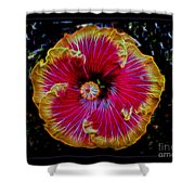 Luminous Bloom Shower Curtain