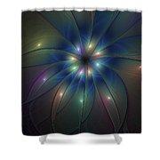Luminous Fractal Art Shower Curtain