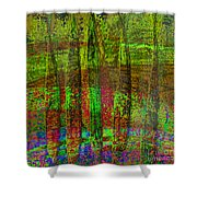 Luminous Landscape Abstract Shower Curtain