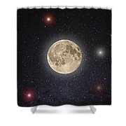 Luna Lux Shower Curtain