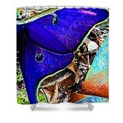 Luna Moth False Color Work One Shower Curtain