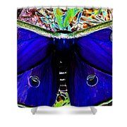 Luna Moth Uv Pano Shower Curtain